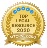 Badge. Top Legal Resource 2020 attorney.org